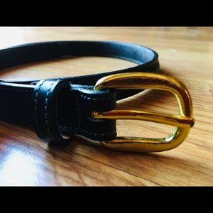 Tory ladies black leather belt sz 26